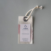 Recycled sail luggage tag