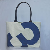 Blue 3 recycled sail purse