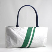 Green Stripe Recycled Sail Purse