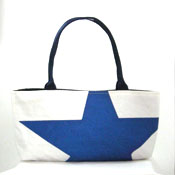 Blue Star recycled sail purse
