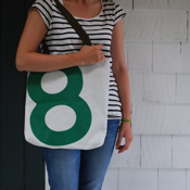 Green 8 recycled sail tote