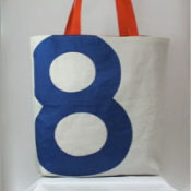 Reiter8 recycled sail Blue 8 Tote