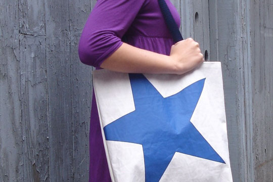 Reiter8 Recycled Sail Star tote